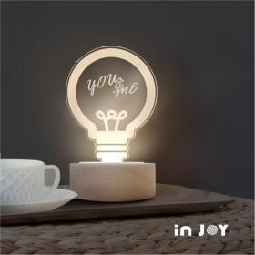 Creema実用的な七夕の恋人ギフト/産業用電球3Dナイトライト(癒しの暖かい贈り物小さなベッドサイドランプのナイトライト)
