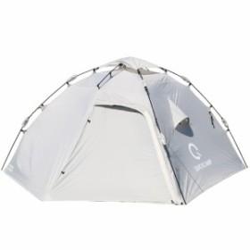 クイックキャンプ (QUICKCAMP) ダブルウォール ドームテント ラージ 4人-5人用 グレー QC-HL270 前室 インナーテント付き アウトドア 大