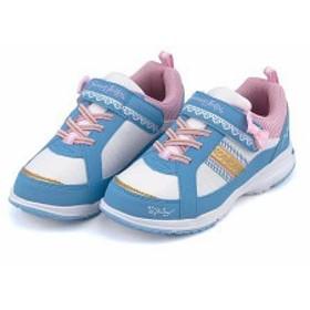 ローカット スニーカー 女の子 キッズ 子供靴 ゴム紐 スイートジェリー Sweet Jelly 6487 ホワイト/サックス