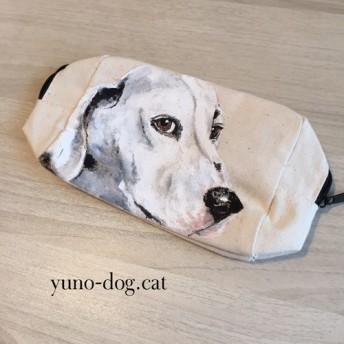 手描き 愛犬ポーチ
