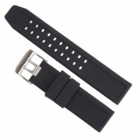 腕時計用 交換ベルト ルミノックス互換 3050シリーズ対応 ラバー [ シルバー ][rev28974]