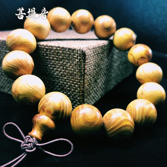 【菩提居】金絲黃柚手珠(15mm)