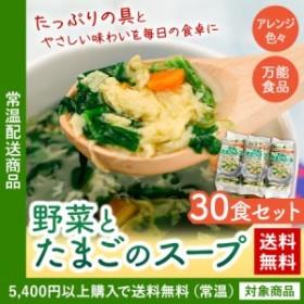 スープ 送料無料 野菜とたまごのスープ 10袋入り×3(ln)