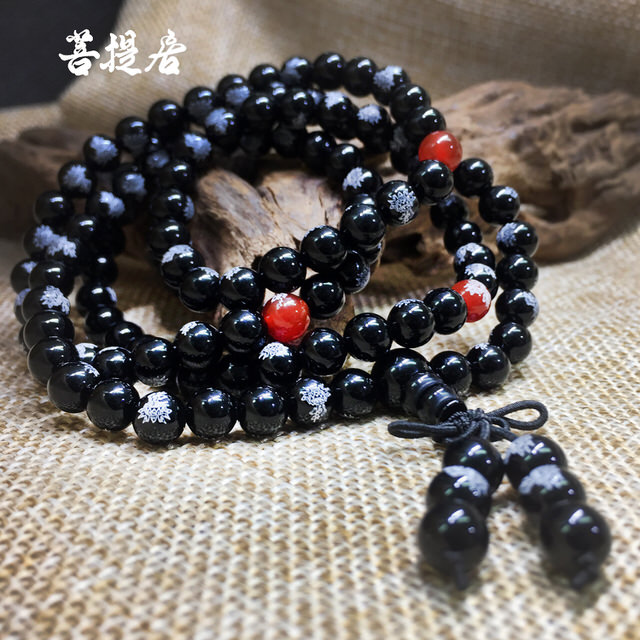 【菩提居】黑瑪瑙蓮花108唸珠(6mm)