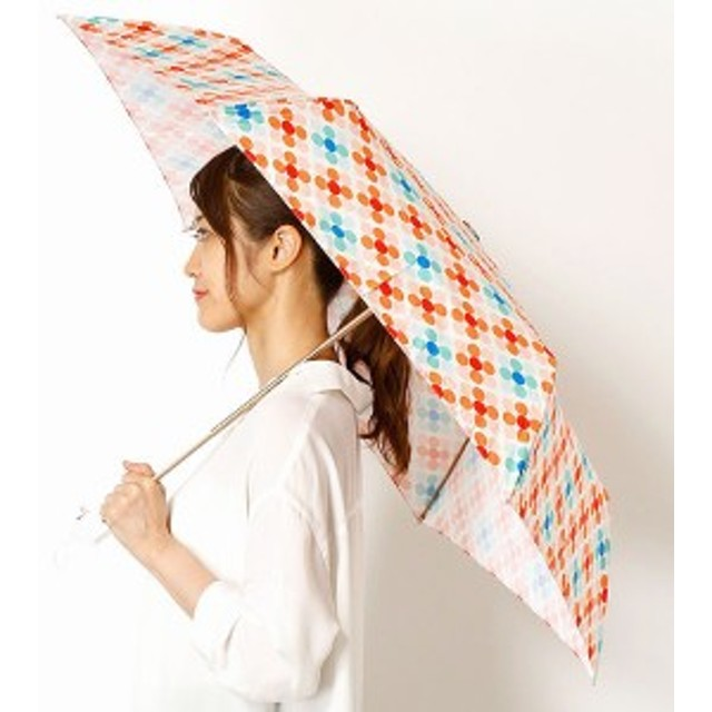 エスタ(estaa)/【軽量・UVケア】雨傘(3段/折りたたみ/ミニ)estaa xmt デジタル転写プリントレディース
