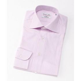 <フェアファクス/FAIRFAX> ワイドカラー/シャドーストライプ柄/長袖ドレスシャツ(03003) ピンク 【三越・伊勢丹/公式】