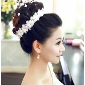 【即納】【メール便送料無料】純白 可憐 ホワイト花嫁 ウェディング ヘッドドレス  ブライズメイド