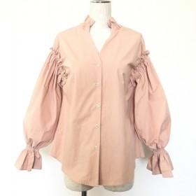 シャーリング切り替え コットンシャツ D73-0904pink