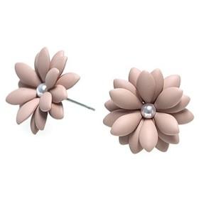 SALE【1ペア】チタン芯!モカカラー18枚の花びら FLOWERピアス、パーツ