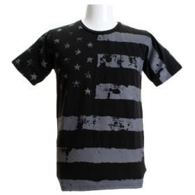 CHRISTIAN 24 プリントクルーネック 半袖Tシャツ CH24M033 BLK (Men's)