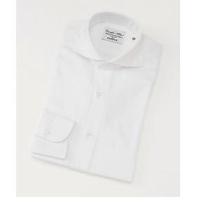 <フェアファクス/FAIRFAX> カッタウェイカラー/ヘリンボーン柄/長袖ドレスシャツ(03001) ホワイト 【三越・伊勢丹/公式】
