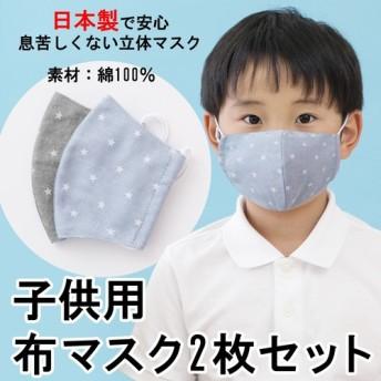 【子供用布マスク2枚セット】【送料無料】
