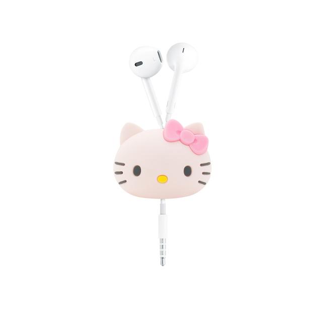 GARMMA Hello Kitty 立體公仔捲線器 蝴蝶粉