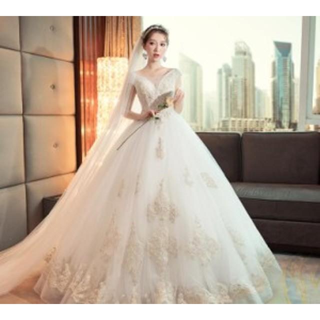 ce9f088685a36 結婚式 ロングドレス ウエディングドレス チュール 豪華 花嫁 白 ボートネック ベアトップ レース 二次会