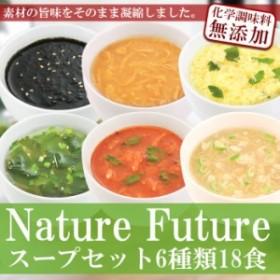 フリーズドライ Naturre Futureスープセット6種18食セット 科学調味料無添加 コスモス食品