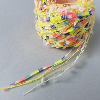 (1)「クロッカスイエロー(1)」 素材糸 引き揃え糸
