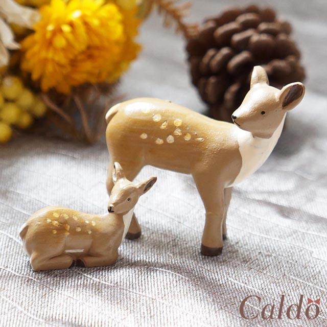 【Caldo卡朵生活】小鹿斑比之母與子微景觀擺飾