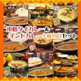 レトルトカレー インドカレー&タイカレー 9種類18食お試しセット (ご当地カレー)