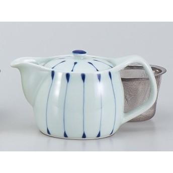 急須 土瓶 茶器/ 線十草ポット(U)(青) /業務用 家庭用 ギフト 贈り物 茶器 茶 ティー おしゃれ インスタ