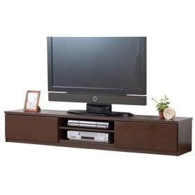 鏡面仕上すっきり収納テレビボード 180cm幅 鏡面 ブラウン 0326310 (代引不可)(TD)