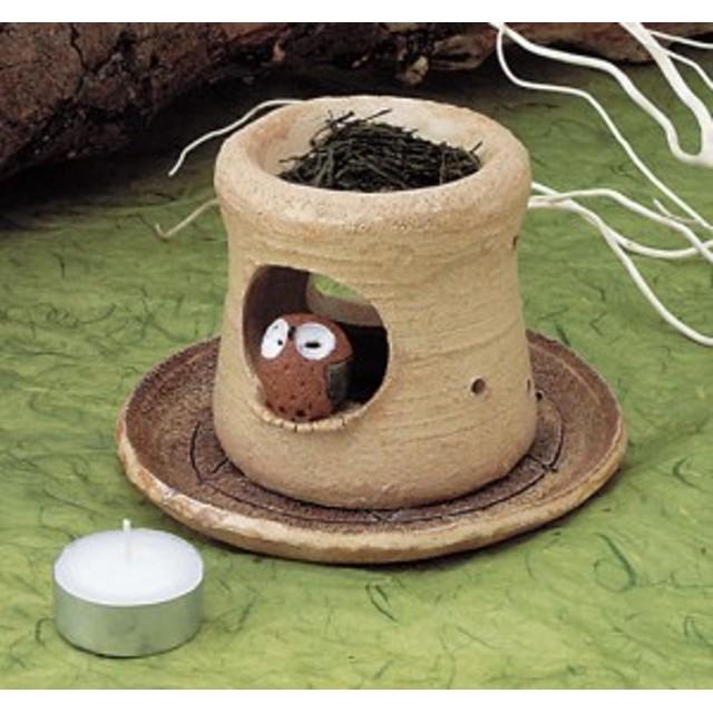 フクロウ 茶香炉