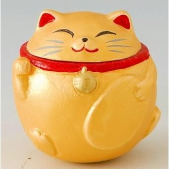 ゆらゆら~起き上がり 豆招き猫(金)