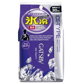 GATSBY(ギャツビー) アイスデオドラントボディペーパー アイスフルーティ(徳用) 30枚入 マンダム