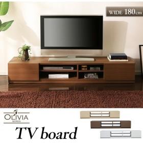 テレビ台 在庫処分特価 テレビ台 ローボード 収納付き幅180 キャスター付き テレビボード 97426