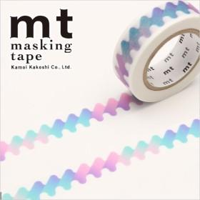 マスキングテープ マステ mt カモ井加工紙 mt 1P (15mmx10m) ゆらゆら・青 MT01D411