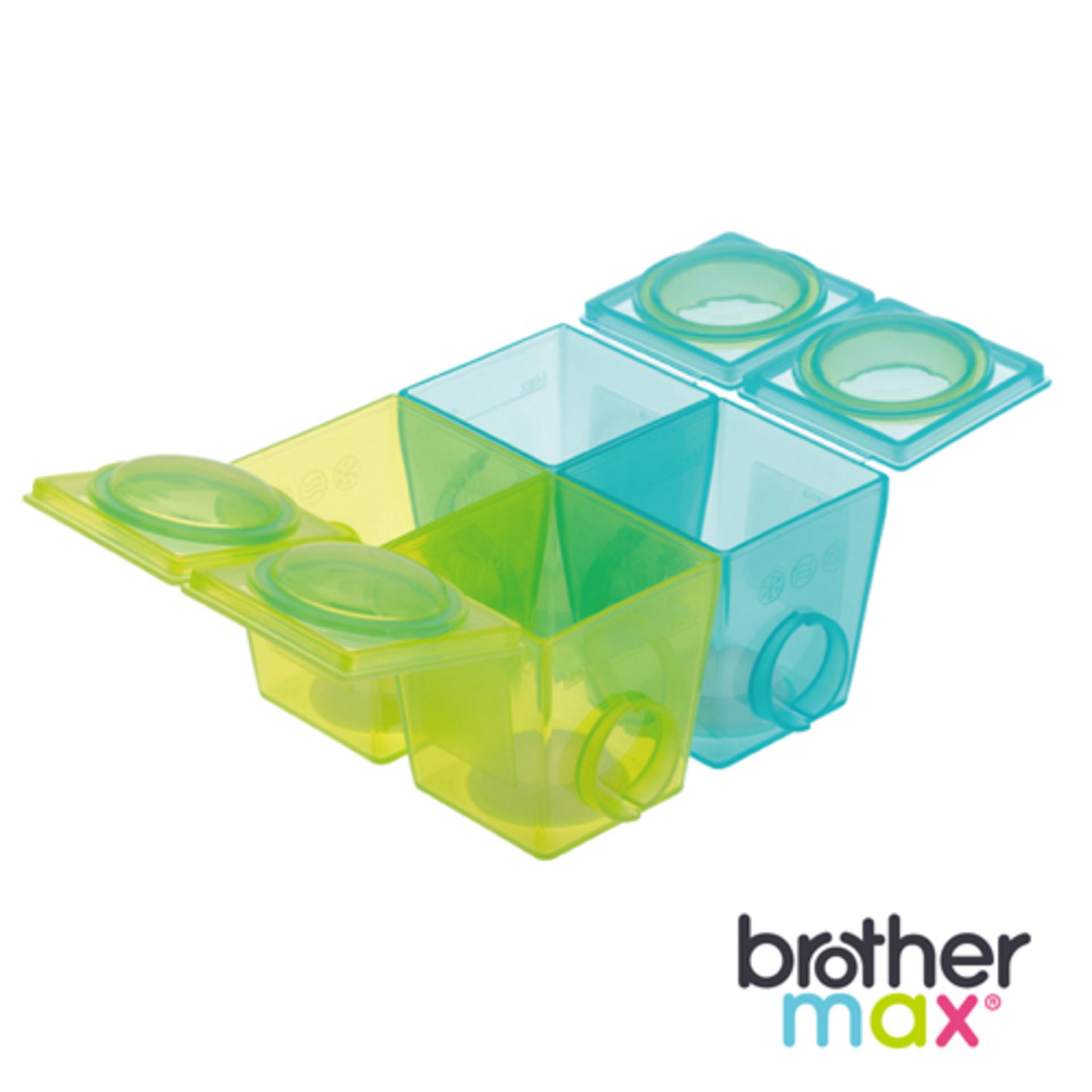 Brother Max 副食品分裝盒 大號4盒, 冰磚王