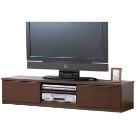 鏡面仕上すっきり収納テレビボード 150cm幅 鏡面 ブラウン 0326210 (代引不可)(TD)