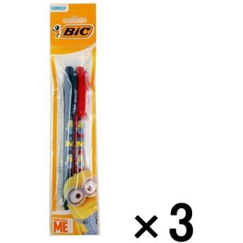 アウトレットBICジャパン ミニオンズクリック ボールペン 0.5 黒・赤 1セット(6本:2本入×3パック) MNEZC05-2P
