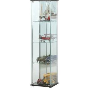 キャビネット 収納 北欧 ガラスコレクションケース 4段(背面ミラー付き) 96046(代引不可) 収納家具