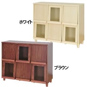 ラック オープンラック 本棚 書棚 リビング収納 パーセンフラップ6枚PS90-120 佐藤産業(代引不可)