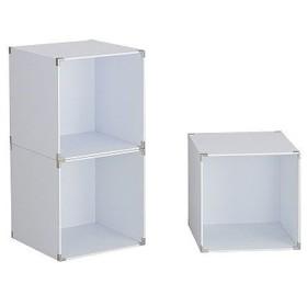伸晃 キューブボックス 3個入 ホワイト 収納ボックス ディスプレイラック 棚 代引不可