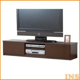 鏡面仕上すっきり収納テレビボード テレビ台 150cm幅 鏡面 ブラウン 0326210 (代引不可)(TD)
