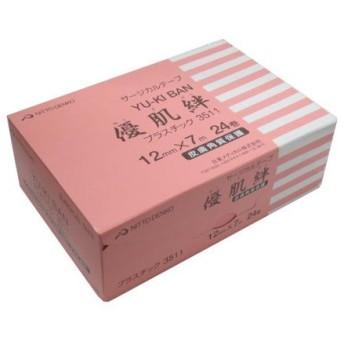 ニトリート サージカルテープ 優肌絆 プラスチック 3511 幅12mmx長さ7m 1箱24巻入 ニトムズ【条件付返品可】