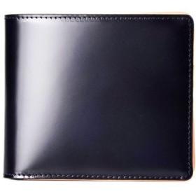 エシェルリベルテ GUIONNET 日本「MIYAUCHI社」製のコードバン(馬革)を使用 日本製コードバン 二つ折り財布 PG203 メンズ メンズ ネイビー F 【ECHELLE Liberte】