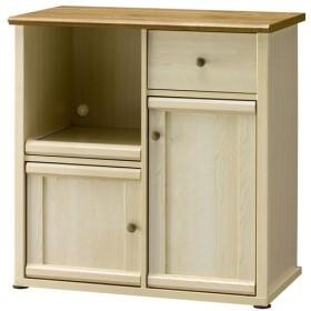 フレンチカントリー調デザイン家具 キッチンカウンター幅79 ミルフィー MLC-8080KC 朝日木材加工 (代引不可)(TD)