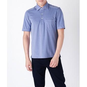 【SALE(伊勢丹)】<フェアファクス/FAIRFAX> ワイドカラー/半袖ポロシャツ(7400) ブルー 【三越・伊勢丹/公式】