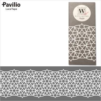 ロールシール Pavilio パビリオ レーステープ White Stars WH75-03-ST 75mm×10m