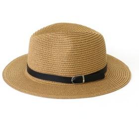 麦わら・ストローハット・カンカン帽 - LACORDE ブラックベルト中折れハット 【 ハット 中折れハット 帽子 レーディス おしゃれ プレゼント ギフト 安い かわいい 】