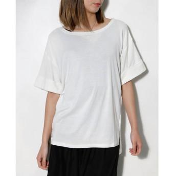 クラシカルエルフ Classical Elf ゆったりクルーネックカットソー tシャツ レディース (ホワイト【006】)