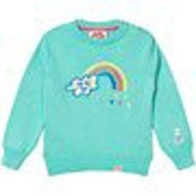 セーター カーディガン ボレロ キッズ 男の子【Tootsa MacGinty Aqua Rainbow Embroidered Jumper】