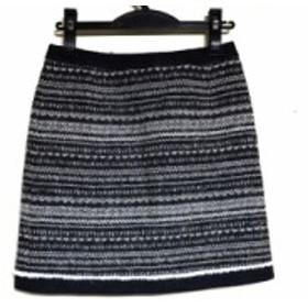 トゥモローランド TOMORROWLAND スカート サイズ36 S レディース ダークグレー×白 ボーダー【中古】