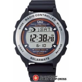 【お取寄せ】 シチズン キューアンドキュー Q&Q デジタル DIGITAL ソーラー メンズ 腕時計 mhs7-300 ブラック