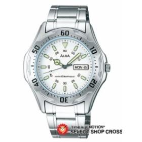 【お取寄せ】 セイコー アルバ ALBA QUARTZ メンズ 腕時計 apbu011 ホワイト×シルバー