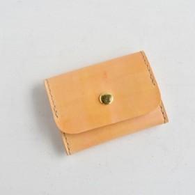 【SALE】革の手染め財布 「みかん No.39(ボックス型小銭入れ/コインケース)」