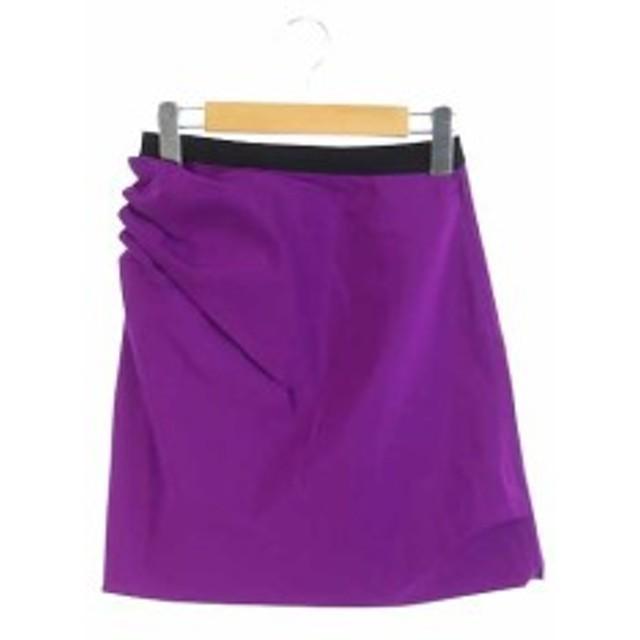 【中古】マークジェイコブス MARC JACOBS スカート 台形 ミニ 2 紫 /HK レディース