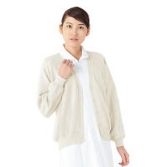 KAZEN カーディガン 女性用 長袖 オフホワイト 3L 189-90 (直送品)
